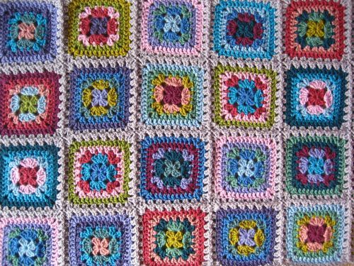Harmony granny blanket. Free step by step picture tutorial pattern ...