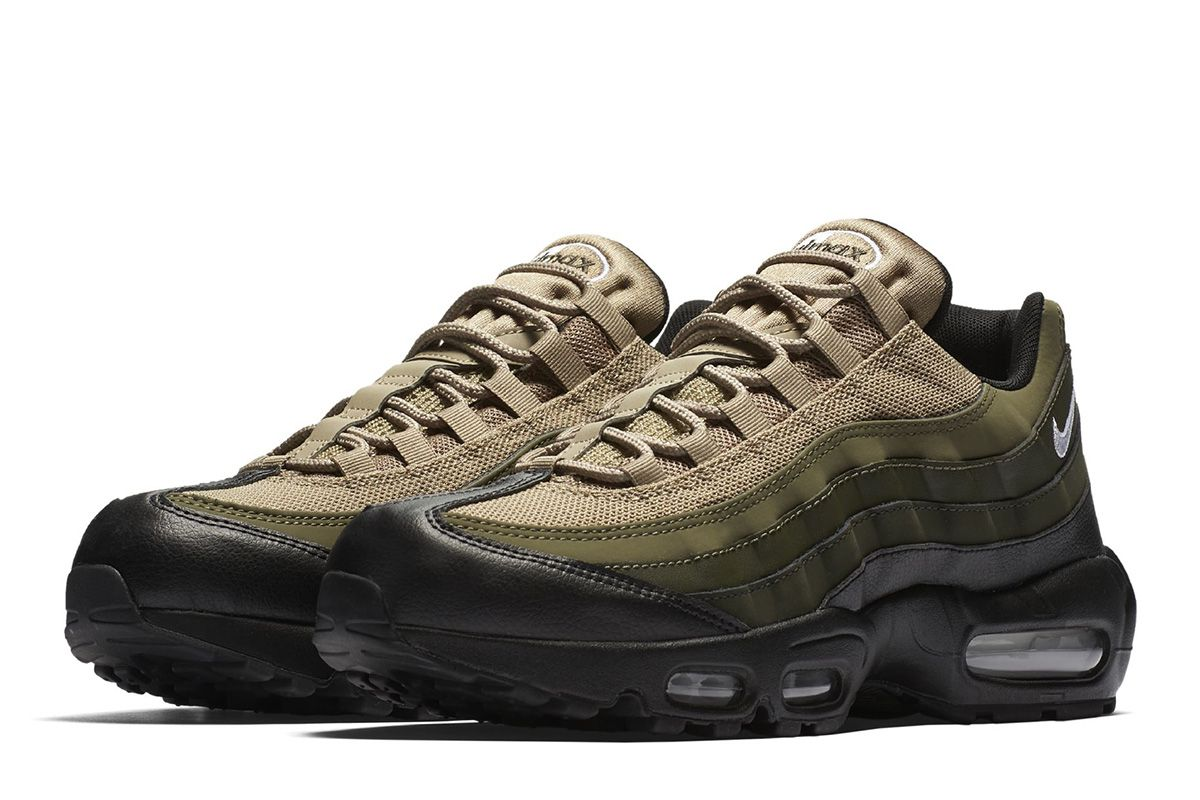 buy online 77df0 bb2fc Nike Air Max 95 Black, Green  Khaki - EU Kicks Sneaker Magazine