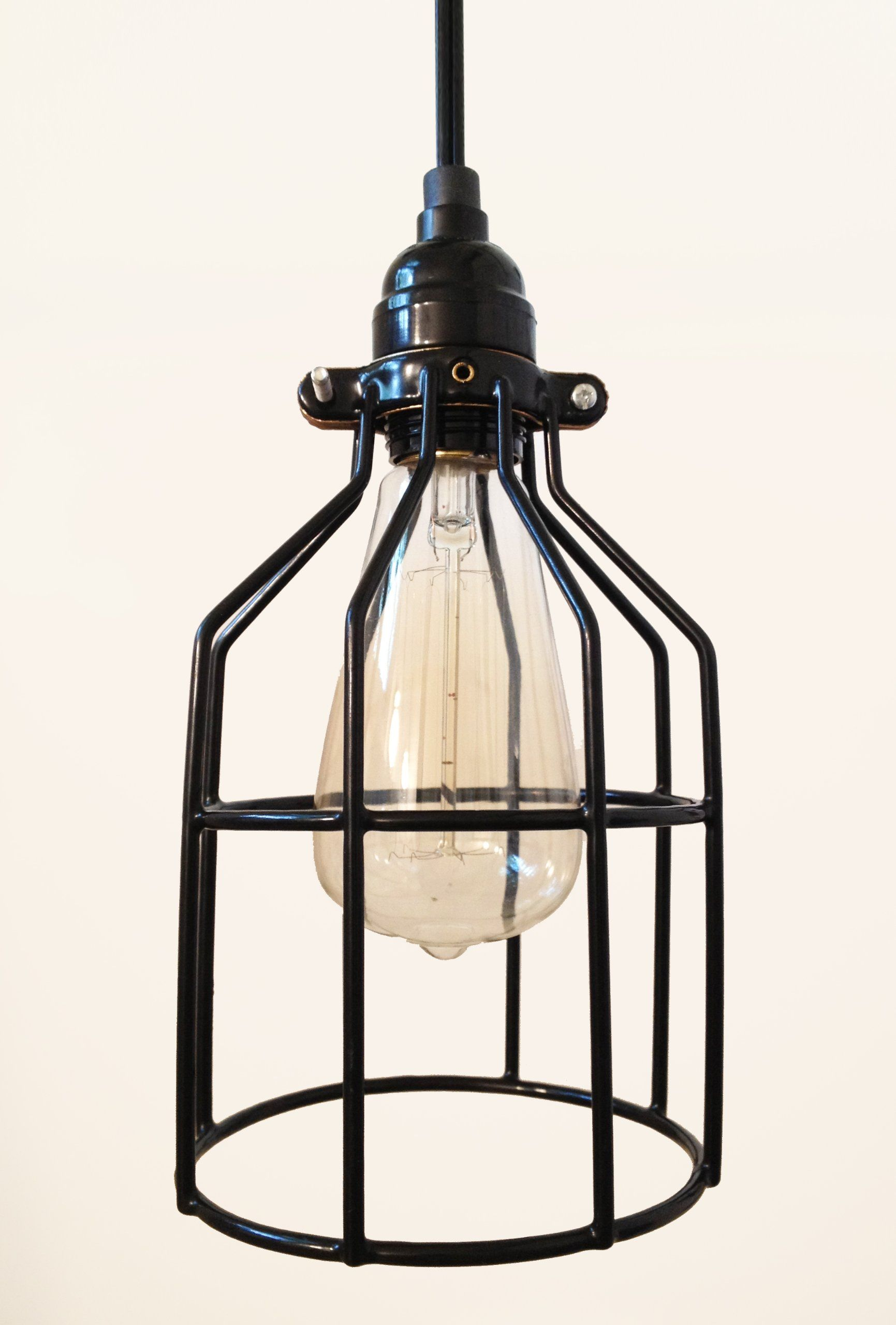Tesla I Industrial Cage Pendant Lamp With Plug In Cord Amazon