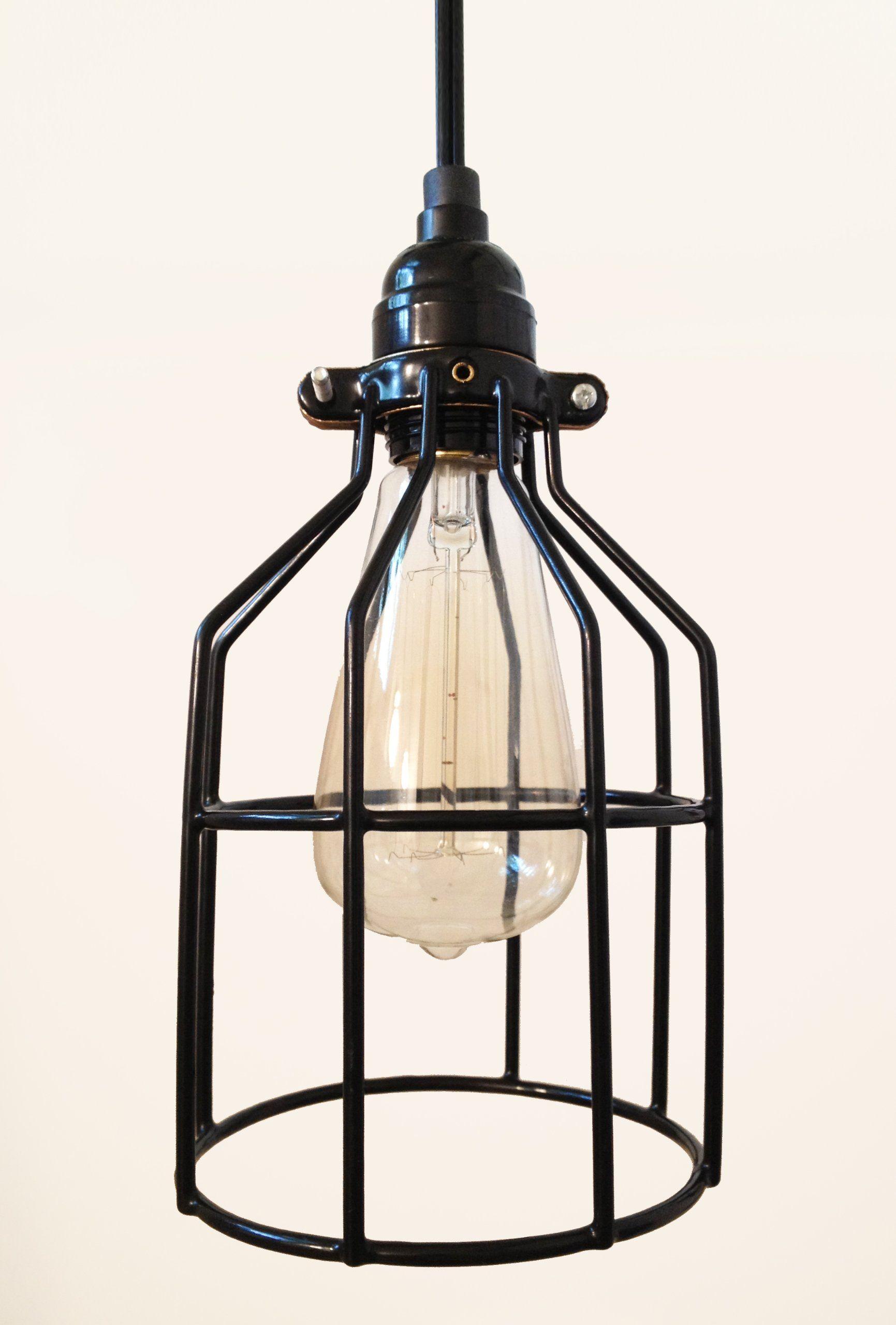 plug in industrial lighting. Tesla I Industrial Cage Pendant Lamp With Plug-in Cord | Amazon.com Plug In Lighting H