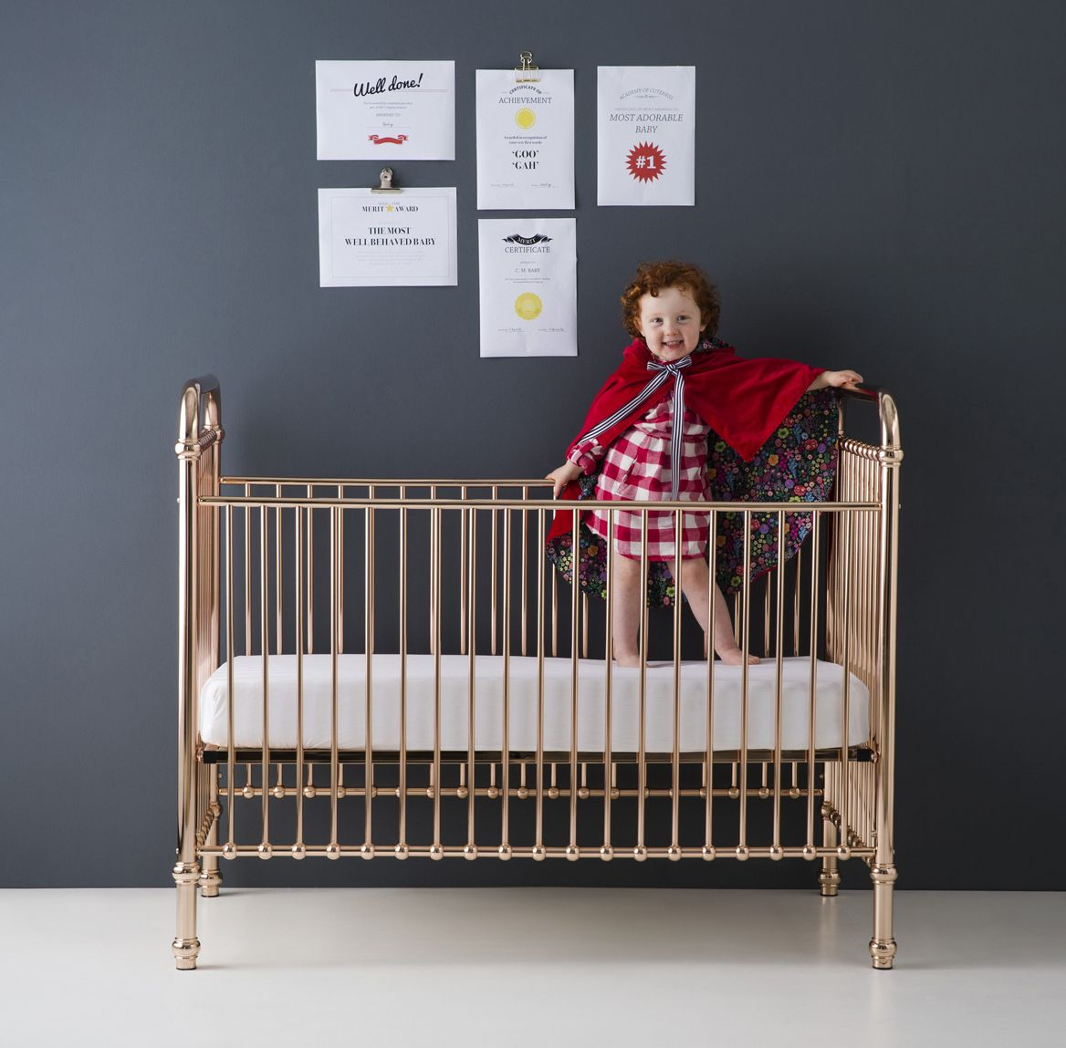 So excited to be carrying this gorgeous rose gold crib ...