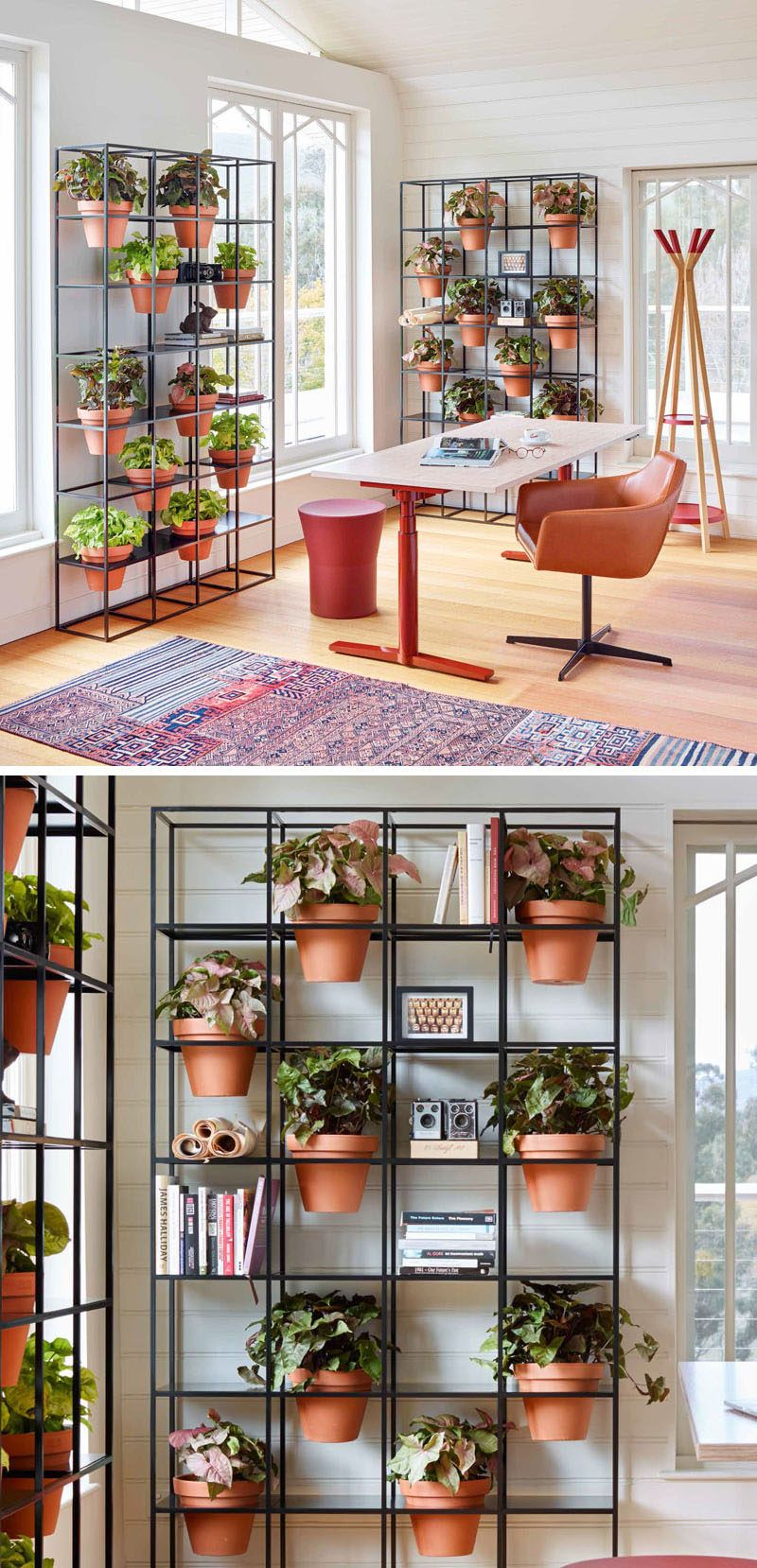An easy way to create a vertical grid garden in your home showroom