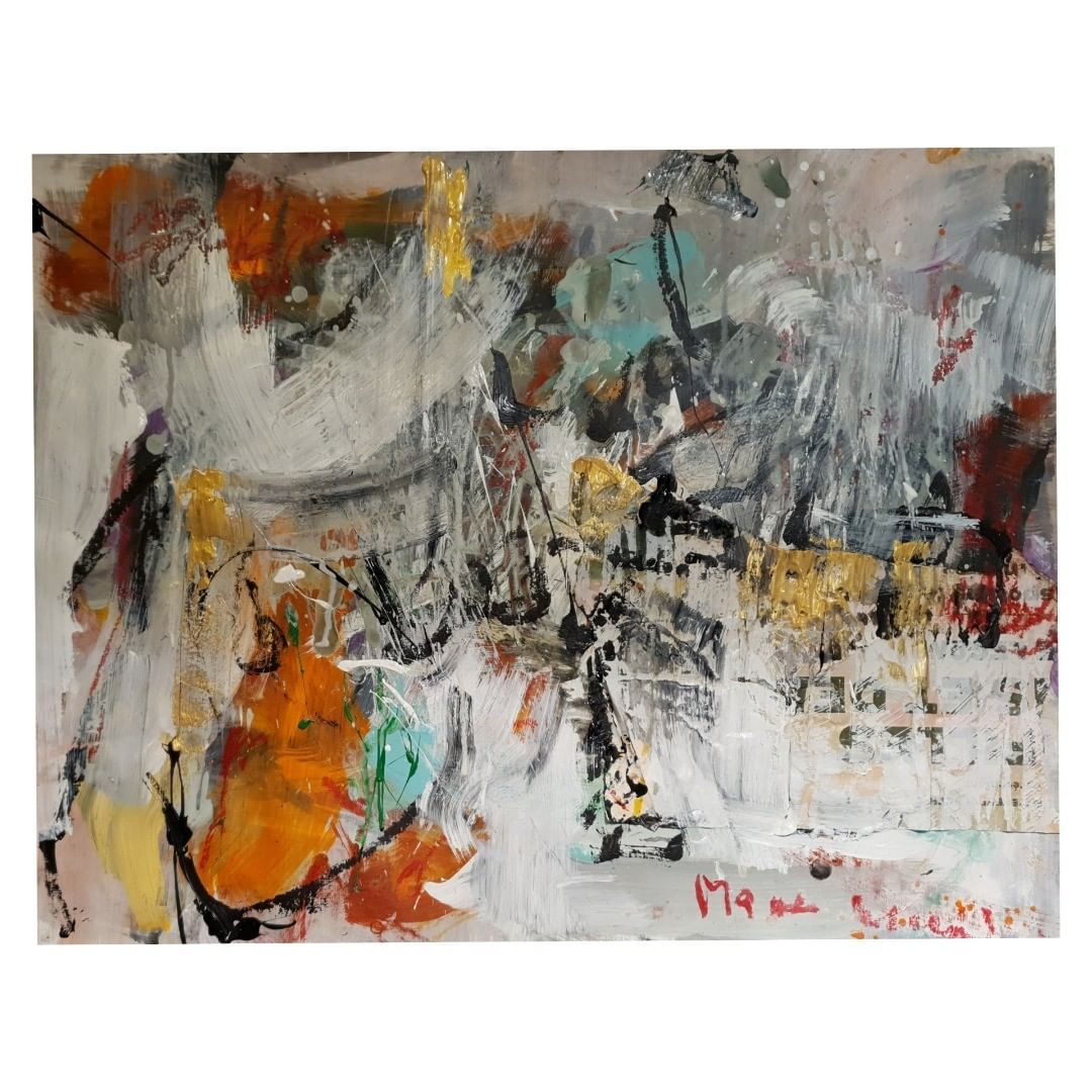 """Muriel Massin's Instagram photo: """"Mixedmedia on paper 50x65cm  MURIEL MASSIN ~~~~ #abstractpainting #actionpainting #acrylic #modernart #abstractpainter #visualart…"""""""