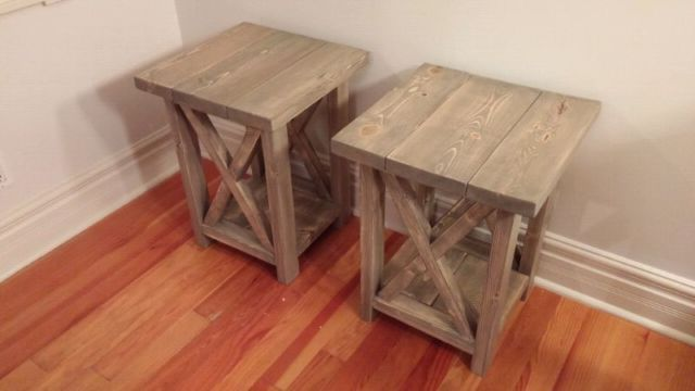 New Locally Crafted Side Tables End Tables Bedside Tables