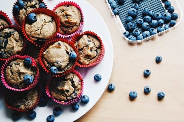 a healthy piece of heaven : Healthy Blueberry Cupcakes