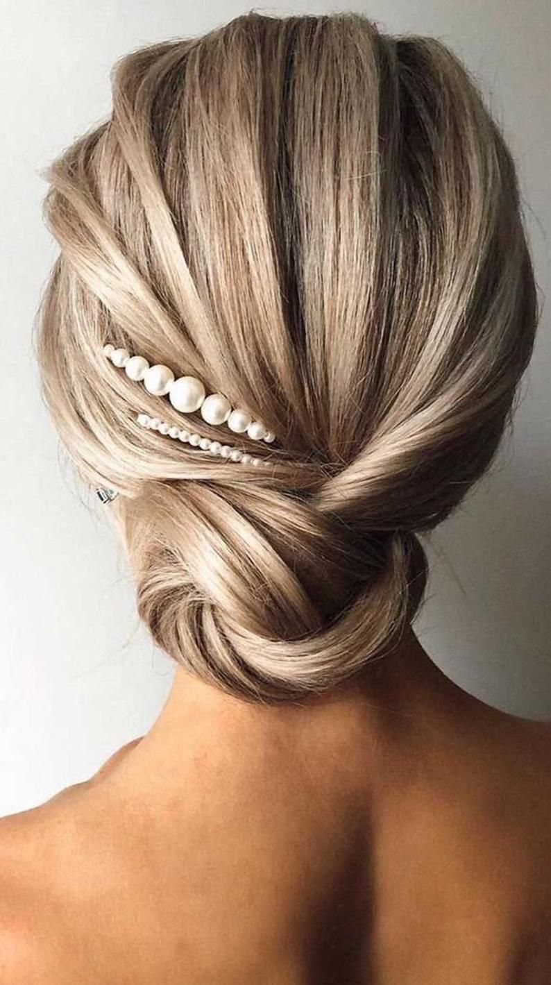 Bridal Pearl Hair Accessories 3pcs Set, Pearl Bobb