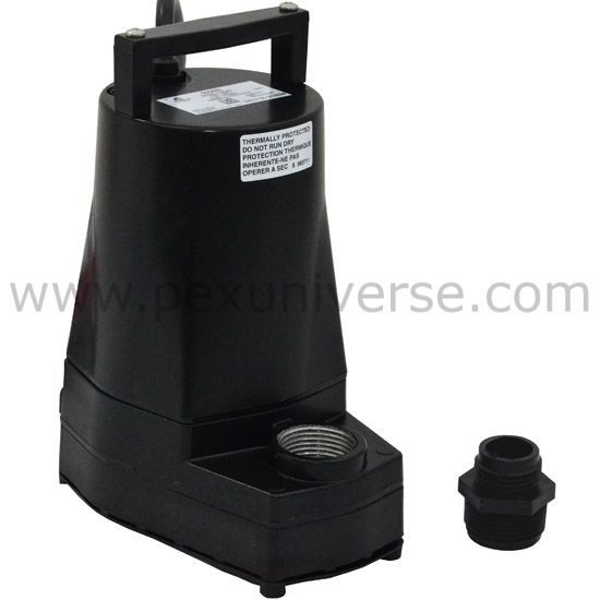 Little Giant 5 Mspr 505486 Manual Submersible Sump Utility Pump 115v 1 6hp 10 Cord With Images Sump Pump Utility Pumps Little Giants