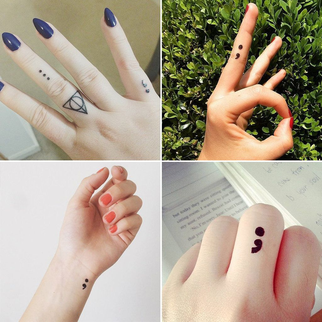 project semicolon tattoos
