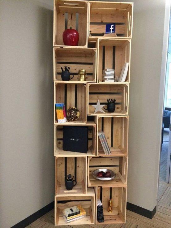 + de 60 ideas con cajas de madera de fruta: muebles, cajas decoradas…