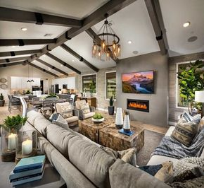 The exposed beams give me life. #homedesign #newhome #homedecor #homeideas #home