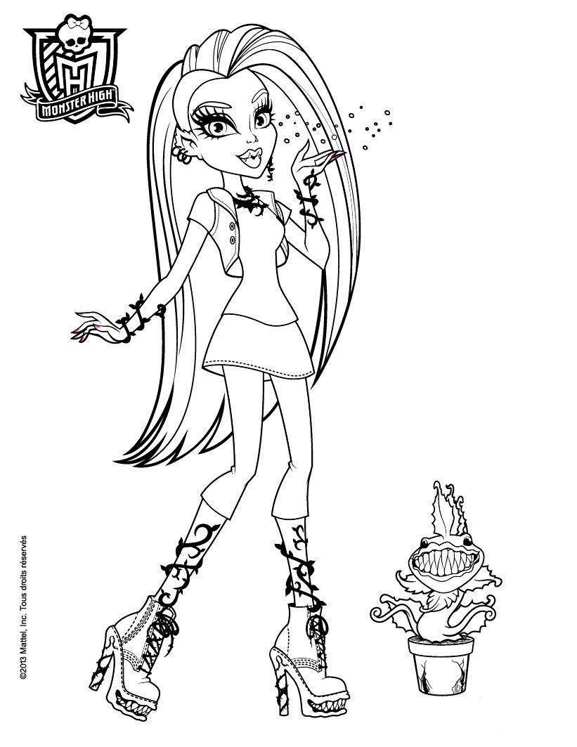 Ausmalbilder Von Monster High : Monster High Ausmalbilder 06 Coloring Pages Pinterest Monster