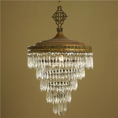 Antique crystal wedding cake chandelier shades of light vintage
