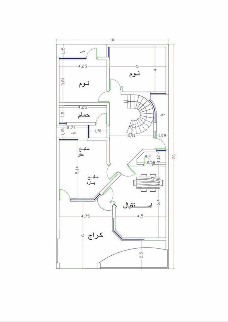 خرائط منازل عراقية 200 م خرائط منازل عراقية 200 متر تصماميم منازل 2017 منتديات درر العراق Narrow House Plans Modern House Plans South Facing House