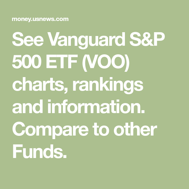 See Vanguard S P 500 Etf Voo Charts Rankings And
