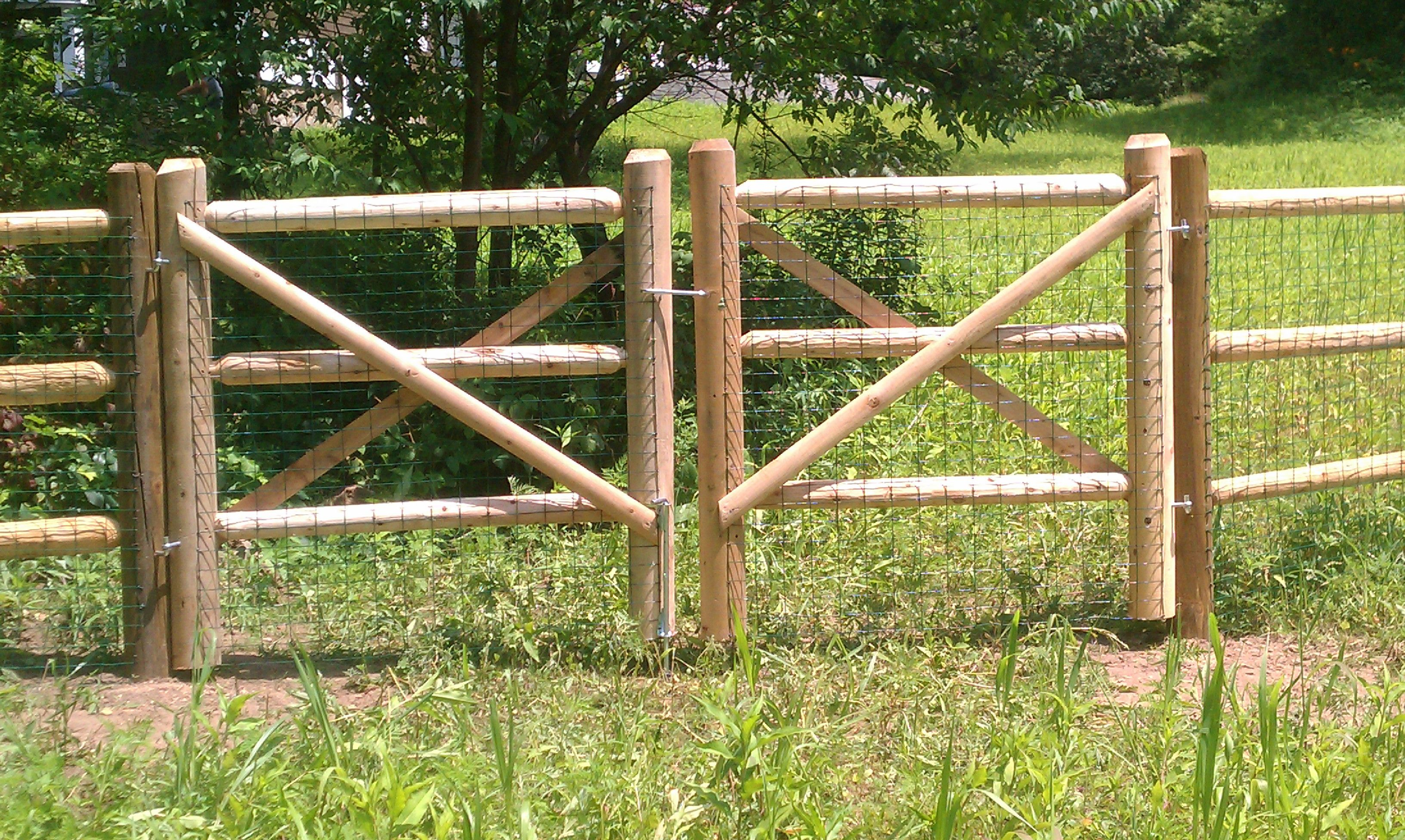wood and wire fences. Rustic Wood Wire Fence | And Fences
