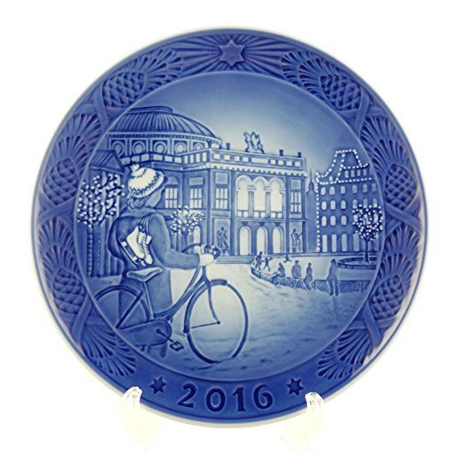 Royal Copenhagen 1016856 Christmas Plate 2016 Blue Clics Collectibles Model No Factory First Quality