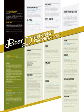 Free printable Best Drinking Games Ever poster from