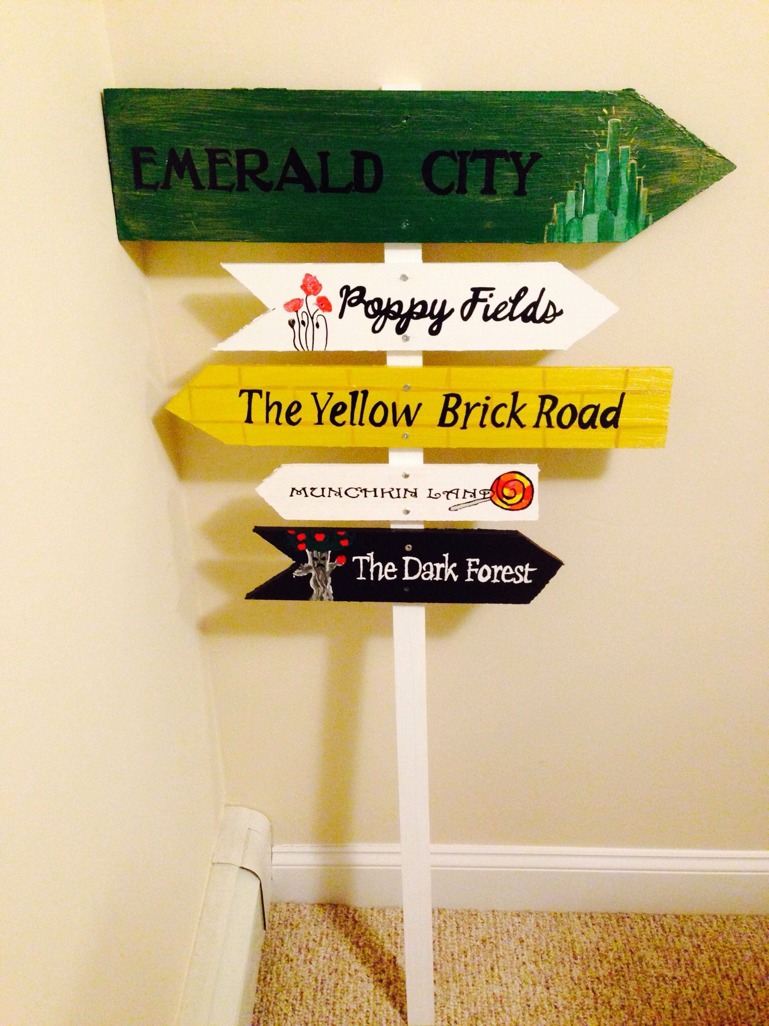 Customized wizard of oz garden sign. Hand painted. For sale $175 ...