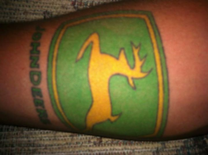 John Deere tattoo | Tattoos | Tattoos, Superhero logos, Logos