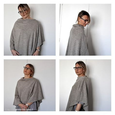 Easy Peasy Poncho - Lagenlook | Schnittmuster poncho, Gratis ...