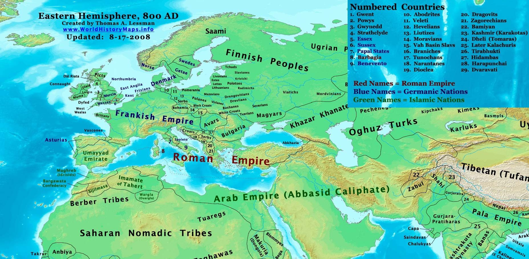 Europe and the near east 800ad worldhistorymaps infog 1855910 europe and the near east 800ad worldhistorymaps info gumiabroncs Image collections