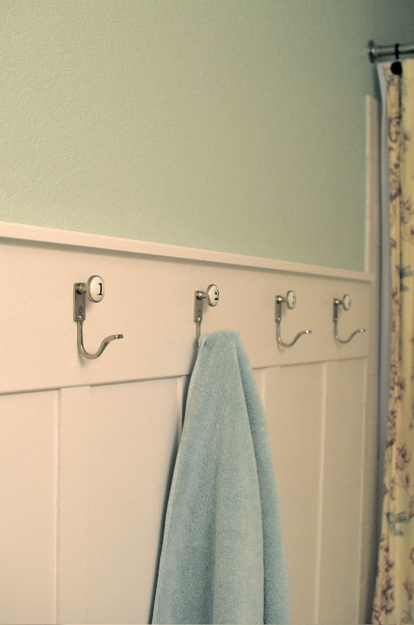 Numbered Towel Hooks From Pottery Barn