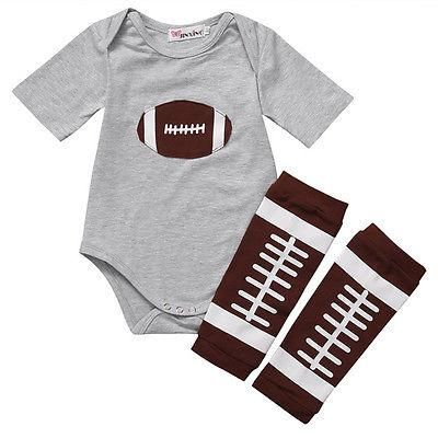 American Football...  Now available our website 😀  http://presentbaby.myshopify.com/products/american-football-romper?utm_campaign=social_autopilot&utm_source=pin&utm_medium=pin