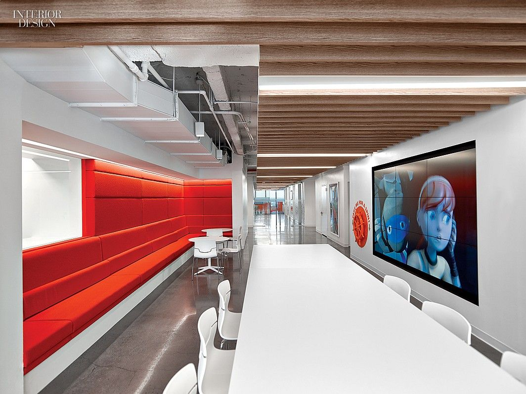 5 firms design viacom s midtown nyc headquarters pinterest