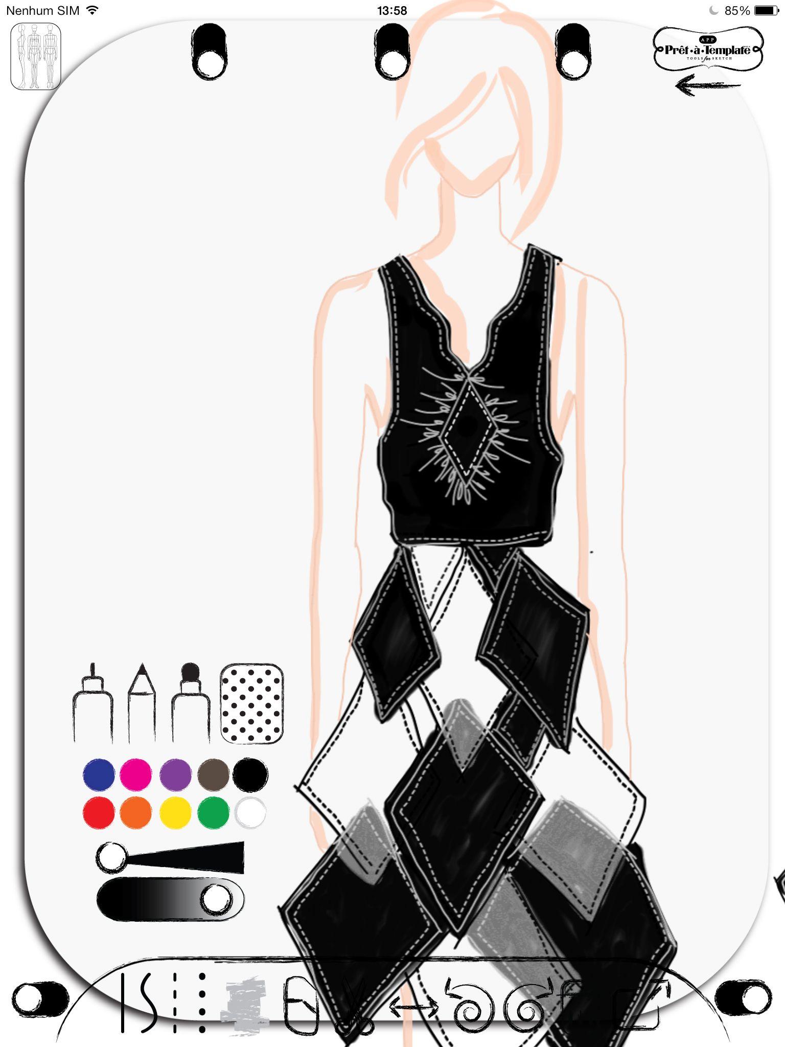 Fashion Sketch App Pret à Template (Free Download
