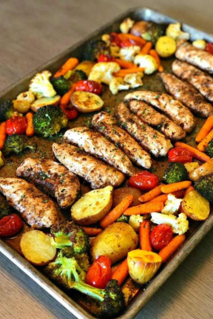 Summer Meal, One Pan Balsamic Chicken Dinner Recipes images