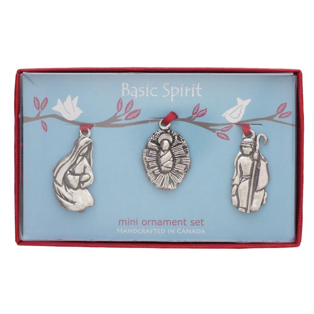 Nativity pewter mini ornament the catholic company
