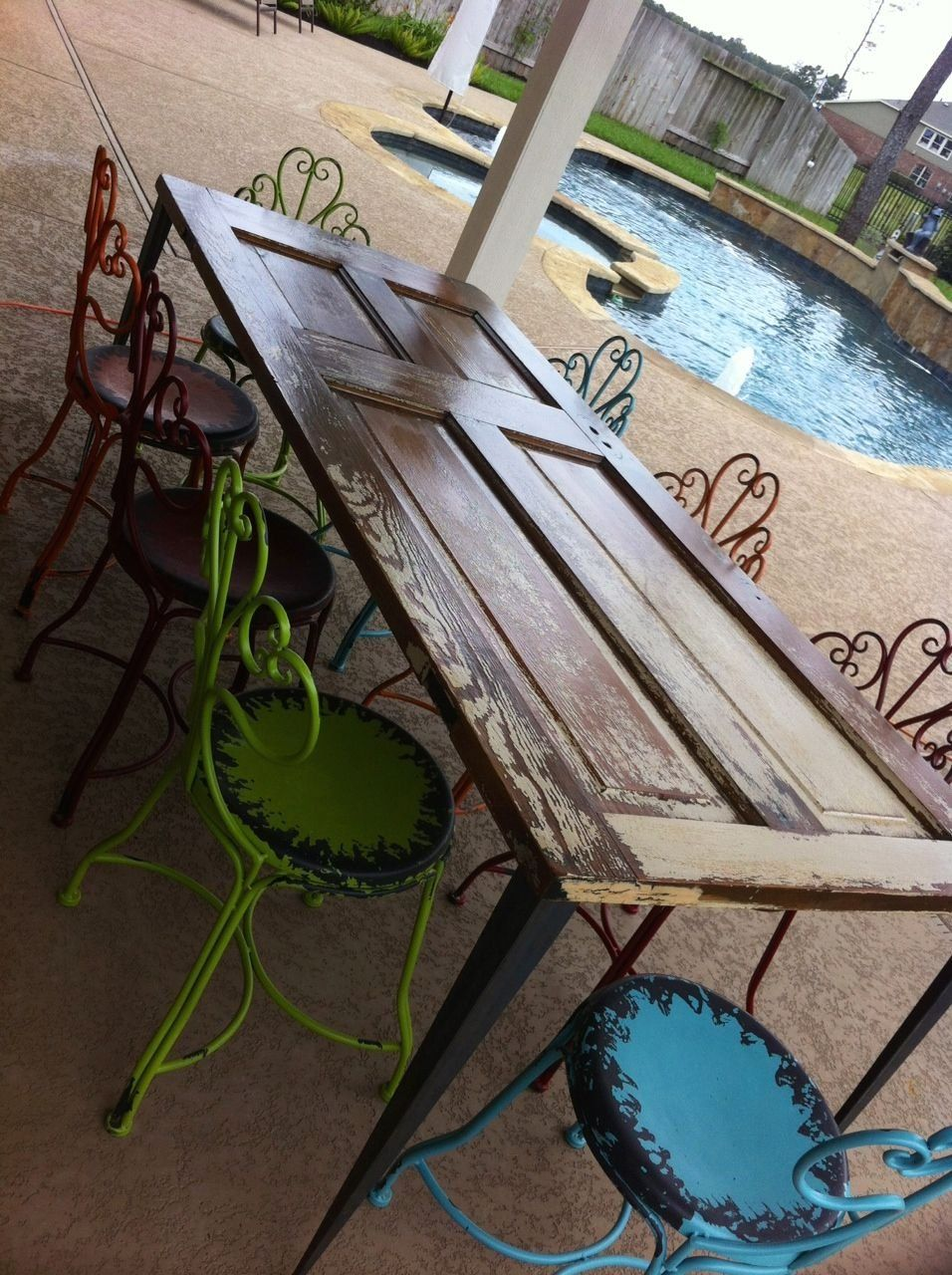 Diy door table with tapered angle iron legs 1000 in 2020