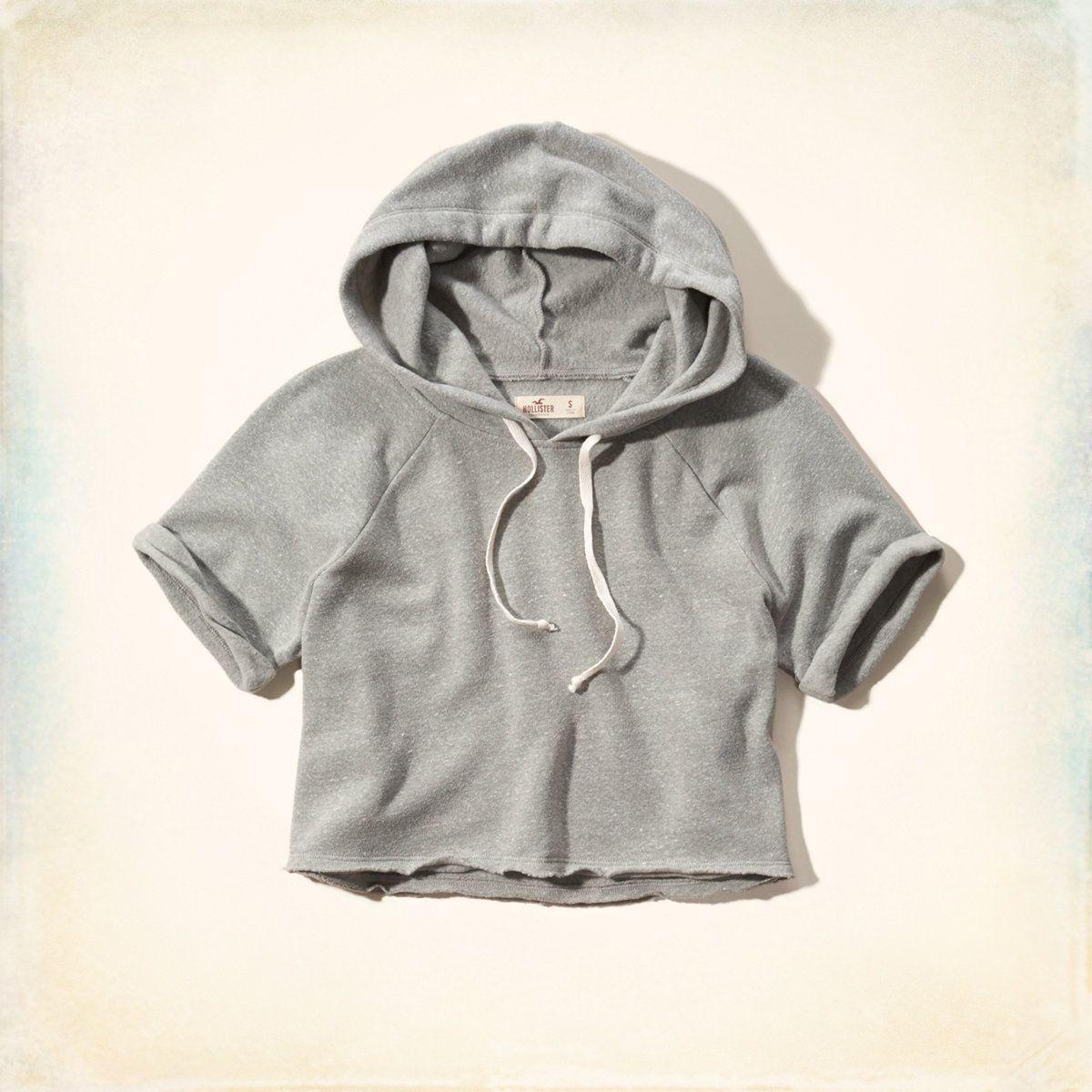 Cutoff Short Sleeve Hoodie Short Sleeve Hoodie Hoodies Hooded Sweatshirts Diy