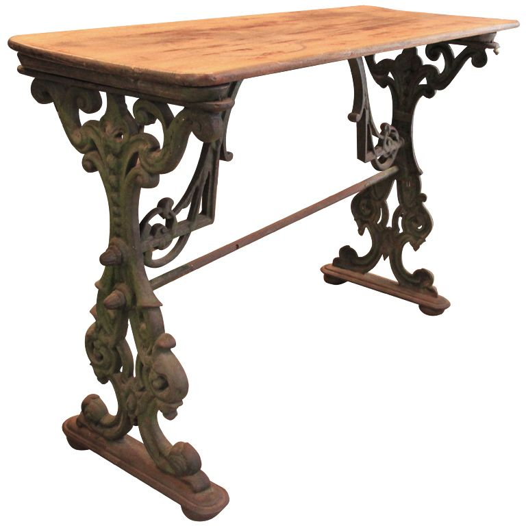 Perfect American Cast Iron Table