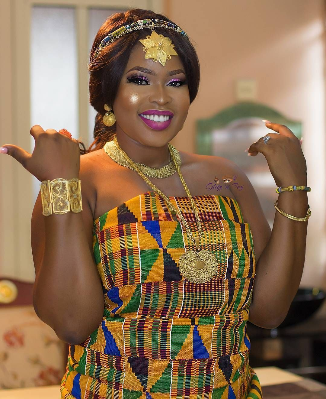 Ghanaian bride nezzamarley Makeup glitz_n_foy