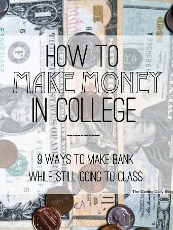 How to Make Money in College saving for college, ways to save for college