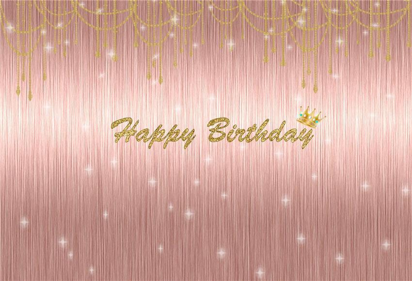 Rose Gold Happy Birthday Shiny Polka Photo Backdrops Starbackdrop Happy Birthday Rose Birthday Backdrop Picture Backdrops