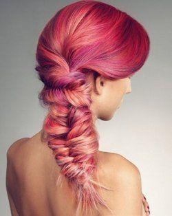 fun hair color and my dream fishtail braid!