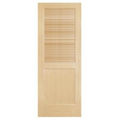 solid core interior doors home depot steves amp sons louver panel solid pine interior door 27539
