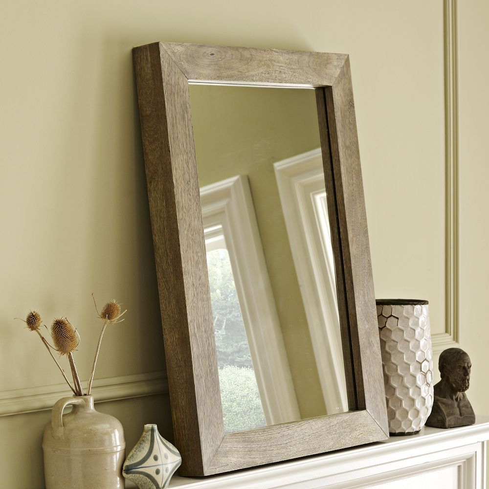 Parsons wall mirror natural solid wood chalet gill pinterest parsons wall mirror natural solid wood amipublicfo Image collections