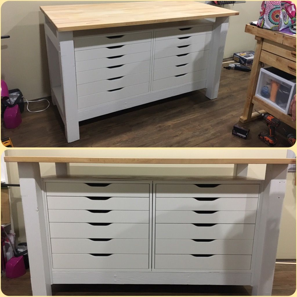 Alex Drawers Gerton Table Top 4x4 2x4 New Craft Table Craft Room Design Craft Room Office Gerton Ikea