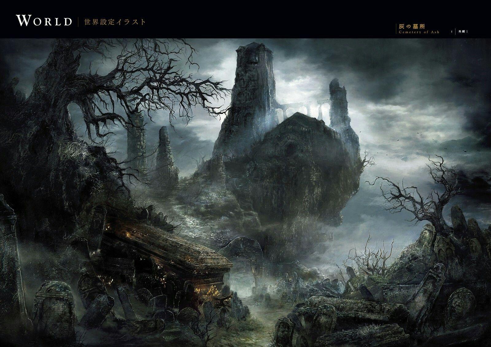 Dark Souls 3 Concept Art Cemetery Of Ash Concept Art In