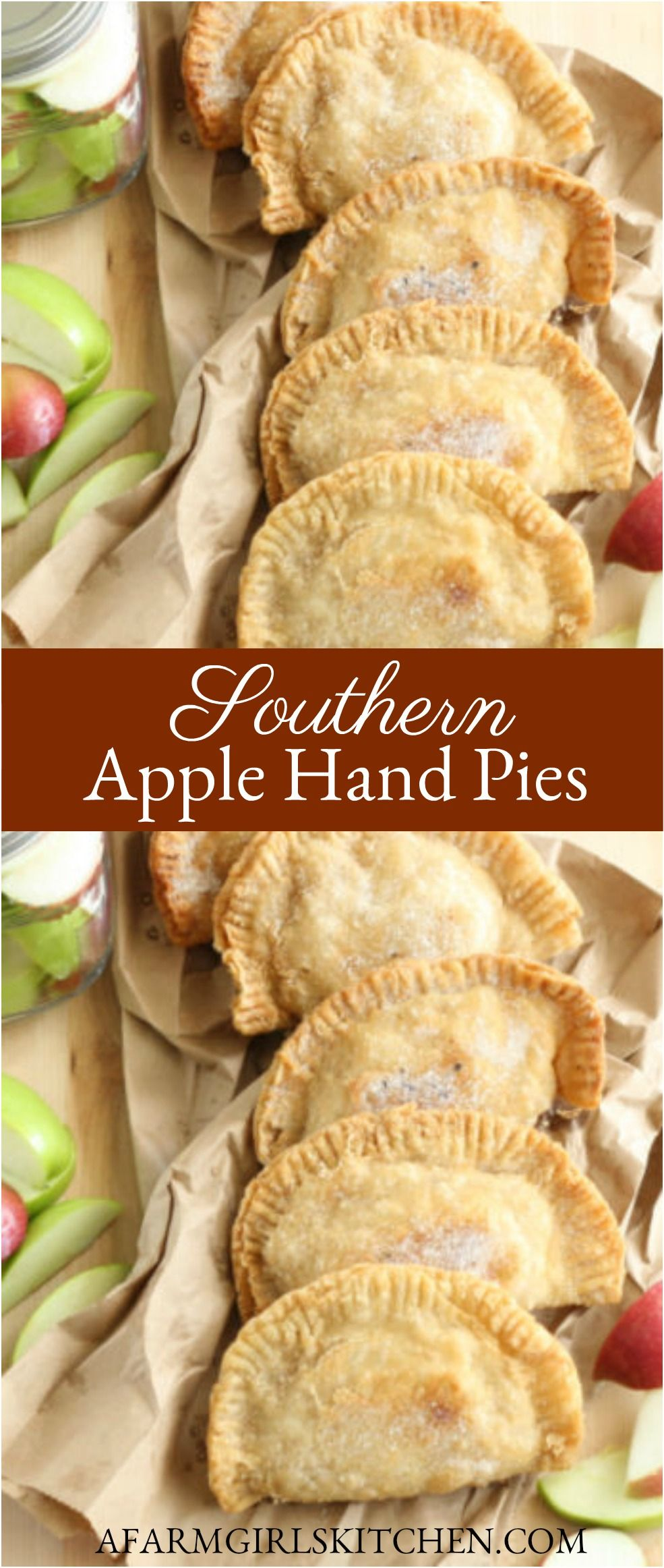 Southern Fried Apple Hand Pies (Easy to make with homemade pie crust OR refrigerated biscuits)