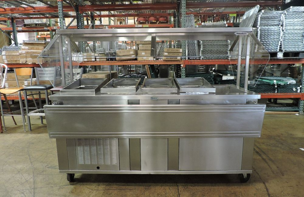 Seco 5cm Commercial Stainless Steel Refrigerated Salad Bar