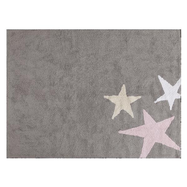 Kinderzimmerteppich Stern Grau Rosa   Haus   Pinterest