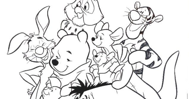 GROUP PICTURE OF WINNIE THE POOH AND HIS FRIENDS INCLUDING ROO ...