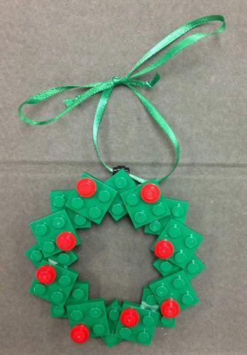 Custom Lego Christmas Holiday Ornament Wreath New Ebay Lego Christmas Lego Christmas Ornaments Lego Ornaments