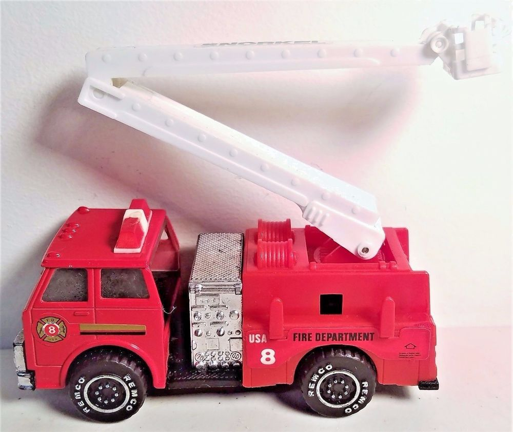 Toys car and truck  Ladder Snorkel Fire Truck