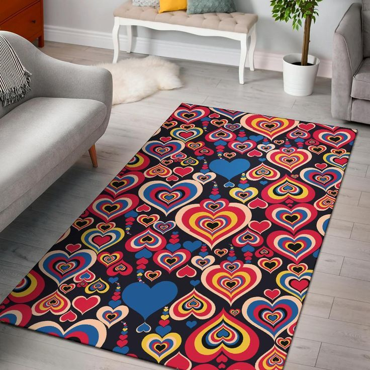 Heart Pattern Print Design HE08 Rug Heart Pattern Print Design HE08 Rug
