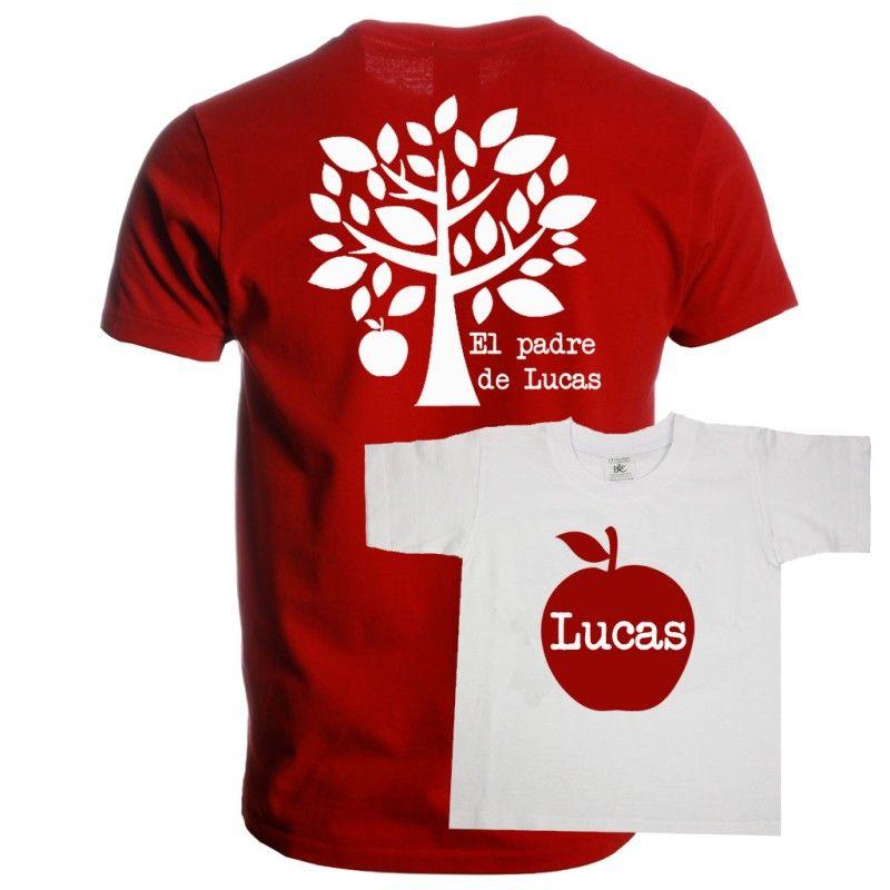 Divertido set de camisetas para padres con hijos. Una camiseta es para el  padre y fa18579ac31bc